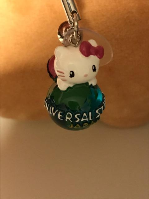 ユニバーサル・スタジオ・ジャパンで買ったキティちゃんストラップ